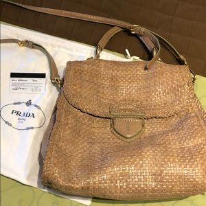Prada woven purse